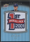 2008 Upper Deck Premier #JM Joe Mauer Premier Stitchings Patch #05/75