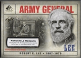 2008 SP Legendary Cuts #113 Robert E. Lee Memorable Moments #1/1
