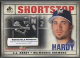 2008 SP Legendary Cuts #91 J.J. Hardy Memorable Moments #1/1