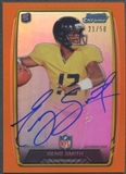2013 Bowman Chrome #RCRAGS Geno Smith Orange Refractor Rookie Auto #21/50