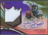 2013 Topps Platinum #ARPGS Geno Smith Purple Refractor Rookie Patch Auto #02/10