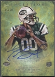 2013 Topps Inception #110 Geno Smith Yellow Rookie Auto #15/50