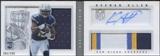 2013 Panini Playbook #217 Keenan Allen Signatures Silver Rookie Patch Auto #285/299