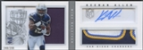 2013 Panini Playbook #217 Keenan Allen Signatures Silver Rookie Patch Auto #248/299