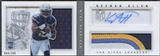 2013 Panini Playbook #217 Keenan Allen Signatures Silver Rookie Patch Auto #084/299