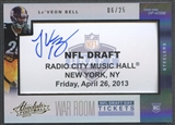 2013 Absolute #21 Le'Veon Bell War Room Draft Day Tickets Auto #06/25
