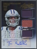 2013 Absolute #36 Terrance Williams Tools of the Trade Rookie Jersey Auto #02/10