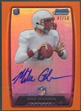 2013 Bowman Chrome #RCRAMG Mike Glennon Orange Refractor Rookie Auto #47/50