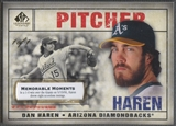 2008 SP Legendary Cuts #86 Dan Haren Memorable Moments #1/1