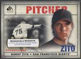 2008 SP Legendary Cuts #84 Barry Zito Memorable Moments #1/1