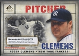 2008 SP Legendary Cuts #9 Roger Clemens Memorable Moments #1/1