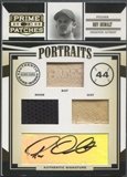 2005 Prime Patches #9 Roy Oswalt Portraits Triple Swatch Bat Shoe Hat Auto #14/25