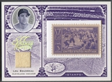 2005 Leaf Century #60 Lou Boudreau Stamps Material Centennial Jersey #36/39