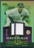2006 Upper Deck Epic #DJ1 Derek Jeter Materials Dark Purple Jersey #020/185