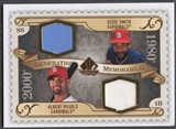 2009 SP Legendary Cuts #GMSP Ozzie Smith & Albert Pujols Generations Dual Memorabilia Jersey