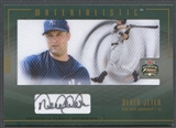 2003 Fleer Focus JE #DJ Derek Jeter Materialistic Oversized Box Topper Auto SP