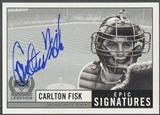 1999 Upper Deck Century Legends #CF Carlton Fisk Epic Signatures Auto