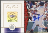 2000 SP Authentic #158 Mo Vaughn 1995 SP Authentic Buyback Auto #106/121