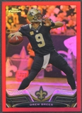 2013 Topps Chrome #25 Drew Brees Red Refractor #17/25