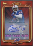 2013 Topps Chrome #16 Steve Johnson 1000 Yard Club Red Refractor Auto #13/25