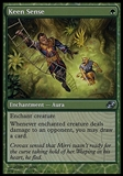 Magic the Gathering Planar Chaos Single Keen Sense FOIL - SLIGHT PLAY (SP)