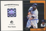 2001 SP Authentic #40 Tony Gwynn 1996 SP Authentic Buyback Auto #16/92