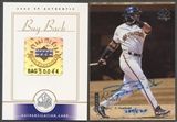 2000 SP Authentic #22 Barry Bonds 1999 SP Authentic Buyback Auto #384/520