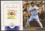 2000 SP Authentic #106 Greg Maddux 1999 SP Authentic Buyback Auto #168/504