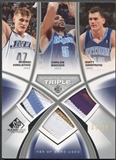 2005/06 SP Game Used #KBH Andrei Kirilenko Carlos Boozer Matt Harpring Authentic Fabrics Triple Patch #04/10