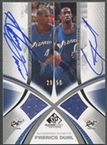 2005/06 SP Game Used #JA Antawn Jamison & Gilbert Arenas Authentic Fabrics Dual Jersey Auto #29/50