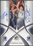 2005/06 SP Game Used #GW Pau Gasol & Jason Williams Authentic Fabrics Dual Jersey Auto #06/50