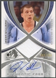 2005/06 SP Game Used #JW Jason Williams Authentic Fabrics Jersey Auto #083/100