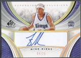 2005/06 SP Game Used #MB Mike Bibby Superstar Exclusive Auto #04/25