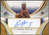 2005/06 SP Game Used #BD Baron Davis Superstar Exclusive Auto #05/25