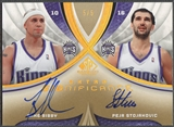 2005/06 SP Game Used #MP Mike Bibby & Peja Stojakovic SIGnificance Dual Gold Auto #5/5