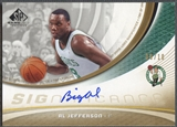 2005/06 SP Game Used #AL Al Jefferson SIGnificance Gold Auto #08/10