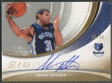 2005/06 SP Game Used #SH Shane Battier SIGnificance Gold Auto #09/10