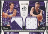 2004/05 SP Game Used #SK John Stockton & Andrei Kirilenko Authentic Fabrics Dual Jersey #031/100