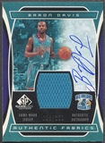 2004/05 SP Game Used #BD Baron Davis Authentic Fabrics Jersey Auto #088/100