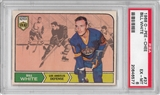 1968/69 O-Pee-Chee Hockey #37 Bill White PSA 6 (EX-MT) *6577