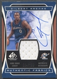 2004/05 SP Game Used #GA Gilbert Arenas Authentic Fabrics Jersey Auto #004/100