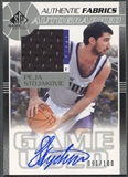 2003/04 SP Game Used #PSAJ Peja Stojakovic Authentic Fabrics Jersey Auto #091/100