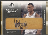 2003/04 SP Game Used #DRSM David Robinson SIGnificant Marks Auto #63/75
