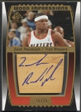 2004/05 SP Game Used #ZR Zach Randolph Wood Impressions Auto #15/75