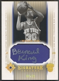 2004/05 Ultimate Collection #BK Bernard King Signature Patch Auto #01/25