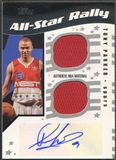2006/07 Topps Big Game #TP Tony Parker All-Star Rally Relics Dual Jersey Auto #11/25