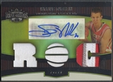 2006/07 Topps Triple Threads #127 Steve Novak Gold Rookie Patch Auto #23/25