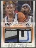2003/04 SP Game Used #TMDMP Tracy McGrady & Darius Miles Authentic Dual Patch #08/25