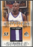 2003/04 SP Game Used #CWP Chris Webber Authentic Patch #016/100