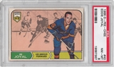 1968/69 O-Pee-Chee Hockey #40 Eddie Joyal PSA 8 (NM-MT) *7367